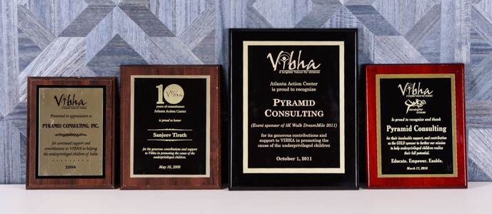 2004, 2008, 2011, 2018 Vibha Sponsor for the Underprivileged Children of India