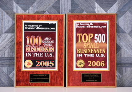 2005, 2006 Top 100/500 Small Diversity Business